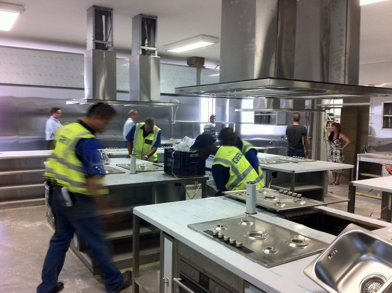 Installing the Cooking School Kitchen