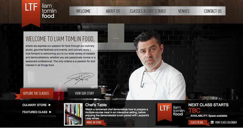 Liam Tomlin Food launches website