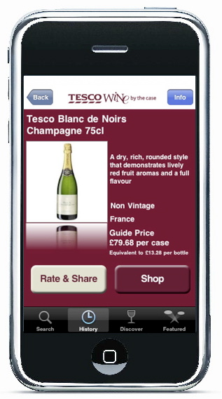 Tesco launches iPhone Wine Application