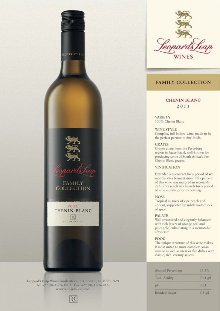 Launching the 2011 Leopard's Leap Family Collection Chenin Blanc