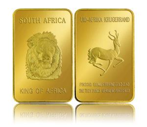 Krugerrand LionHeadGoldBar GACC reflection