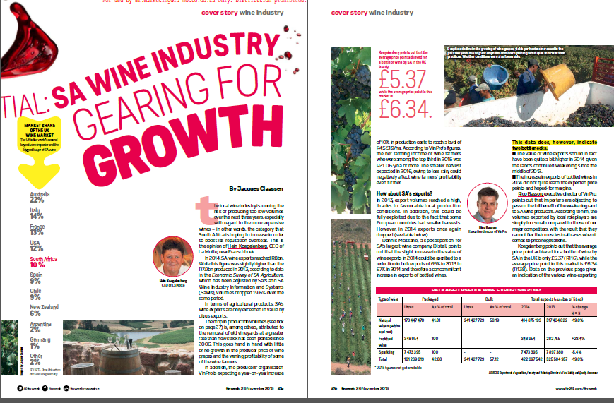 Strategic Growth Required in the SA Wine Industry – My Insights on Finweek Article