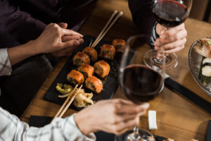 red wine sushi